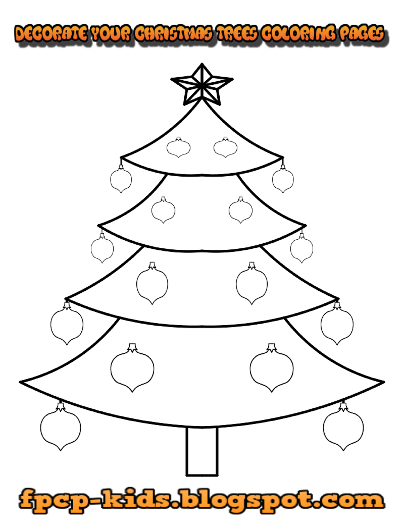 Decorate Your Christmas Trees Coloring Pages Christmas Trees Free Printable C Tree Coloring Page Christmas Tree Coloring Page Free Printable Coloring Pages