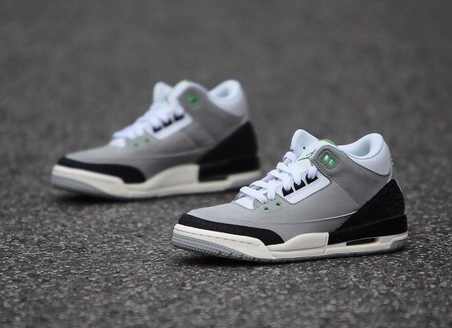d45eacd3ec2a1c Nike Air Jordan 3 Retro III Chlorophyll Tinker Smoke Grey 136064-006 Ship  Now