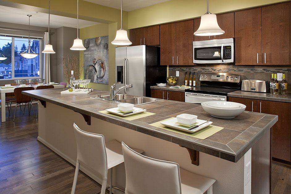 Beautiful and elegant kitchen in the Residence F layout!