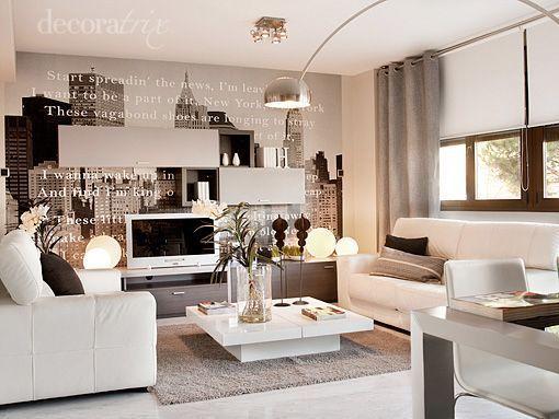 Salon comedor piso piloto arganda 1 decoraci n for Sillones para apartamentos pequenos