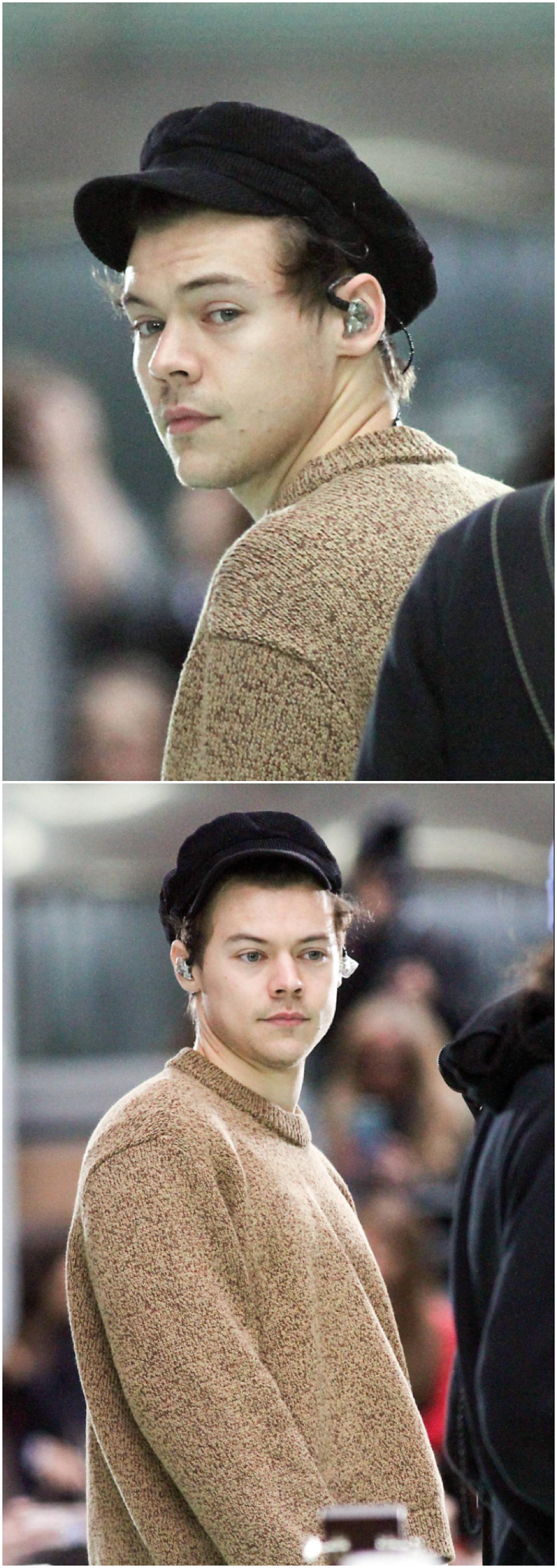 NEW   Two beautiful candid shots of Harry at the Today Show Sound Check. Follow rickysturn/harry-styles
