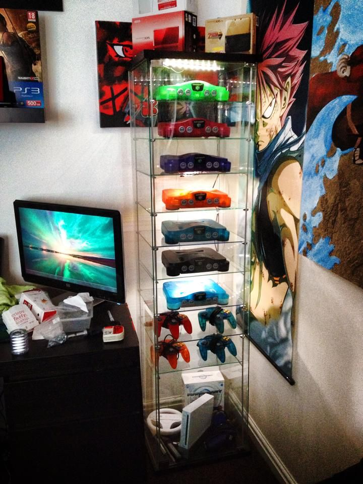 Nintendo 64 N64 Cabinet Shelves - Funtastic Consoles and