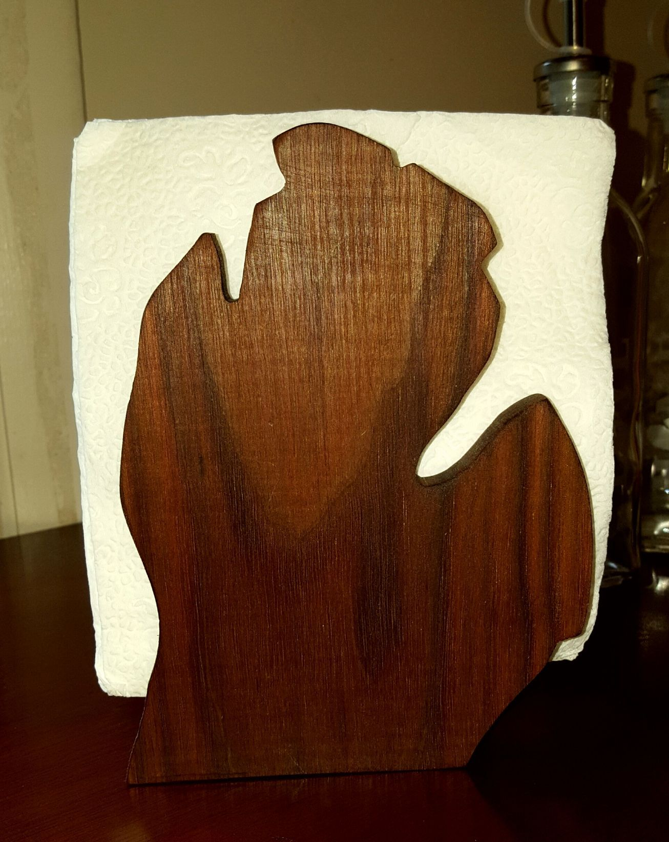 Beautiful Wood Napkin Holder In The Shape Of Michigan Option Are Light Or Dark