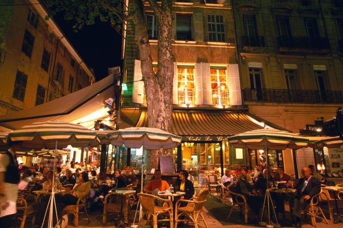 Cafe on Cours Mirabeau, Aix-en-Provence. | France here I come ...