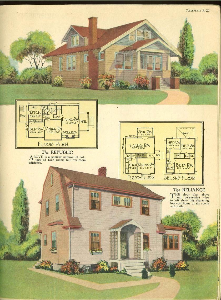 1926 home fireside and garden house plans pinterest for Garden design 1920 s