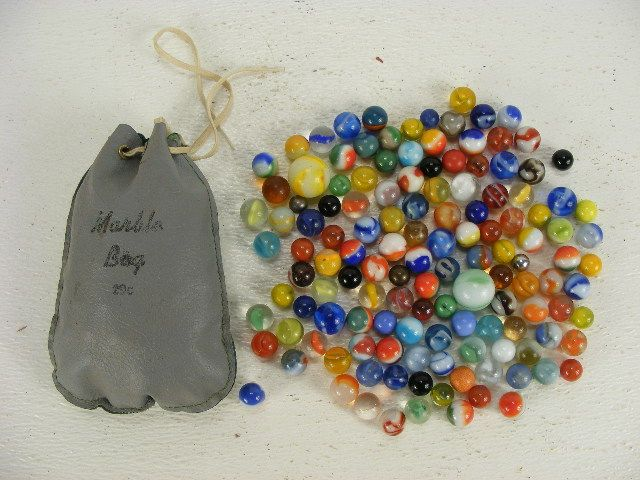 Vintage Marbles Old Vintage Marble Bag That Comes With