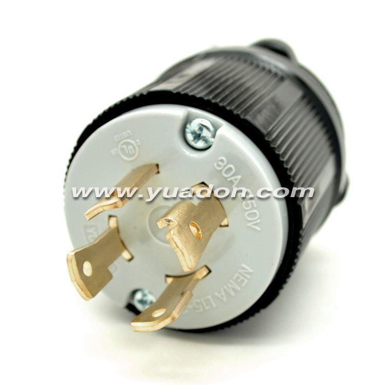 NEMA Plug YDL15-30 30 Amp 125/250V 3 Pole 4 Wire Ground Plug | NEMA ...
