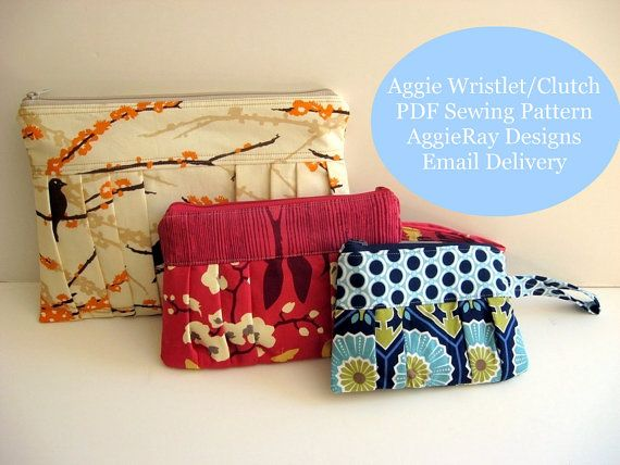 Aggie Wristlet Clutch Bag - PDF Sewing Pattern