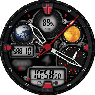 [Download] Audi RS 2.0 red Watch Face for MTK Android
