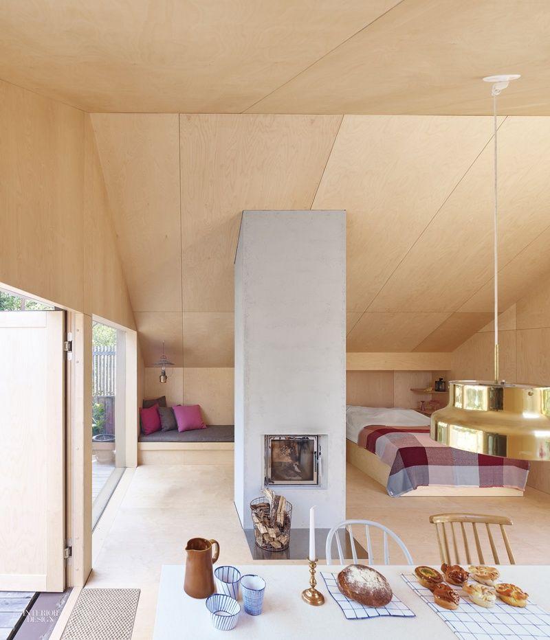 Swedish Interiordesign: A Perfectly Spartan Swedish Cabin By Tove Fogelstr M