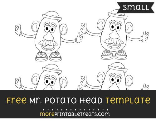 Free Mr Potato Head Template - Small | Shapes and Templates ...