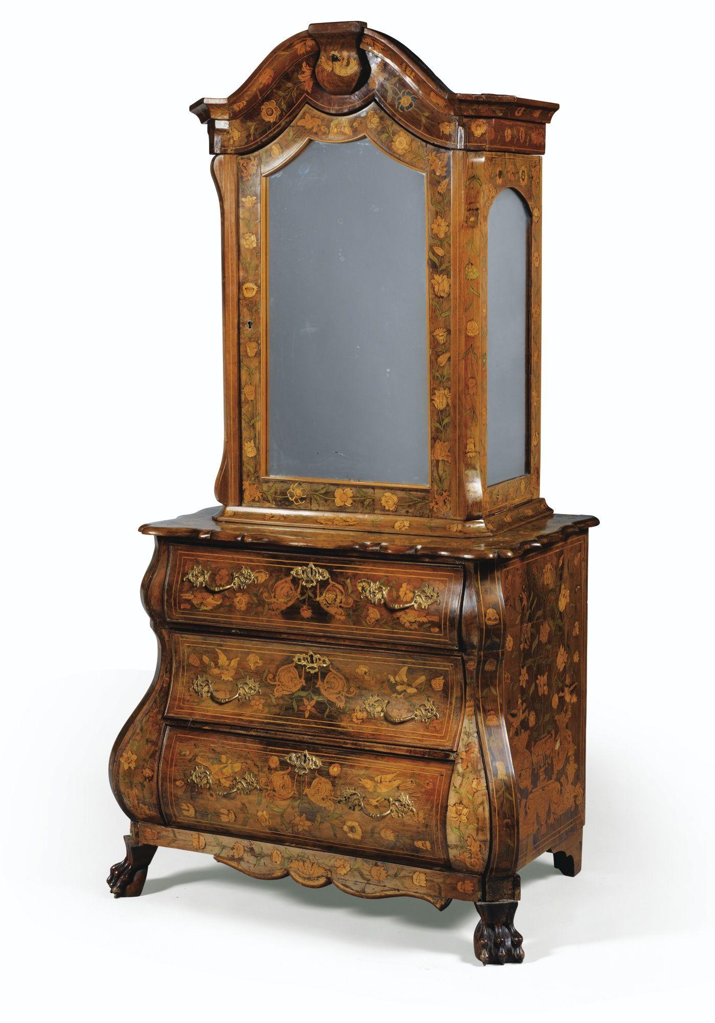 A Dutch Flower Marquetry Cabinet 18th Century Avec Images Meuble Bois Antique Mobilier