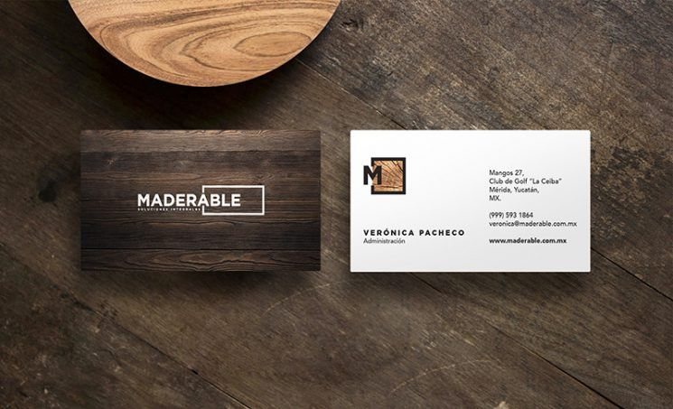 Maderable Woodshop Business Card Business Card Design Inspiration Business Card Design Inspiration Business Card Gallery Create Business Cards