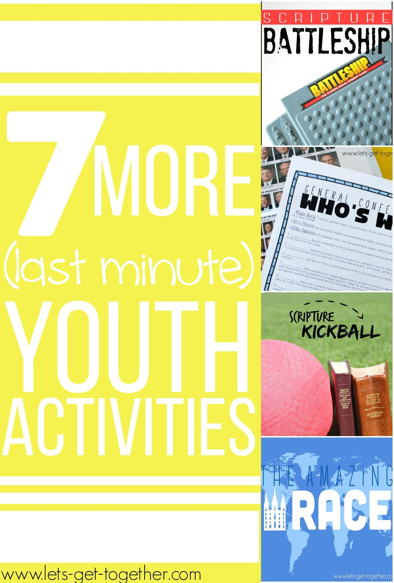 7 More Last Minute Youth Activities