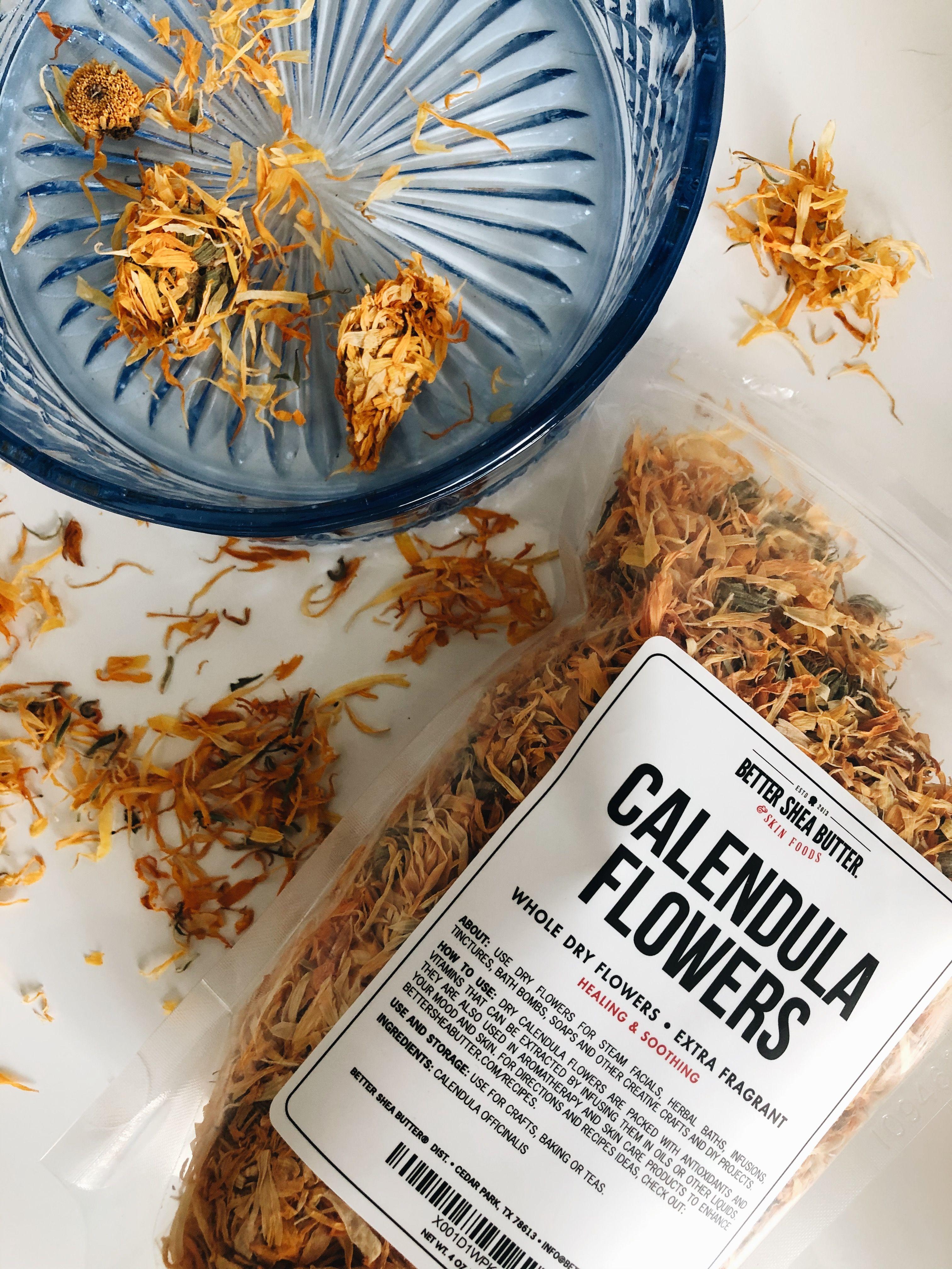 Dry Calendula Flowers Dried flowers, Calendula, Shea butter