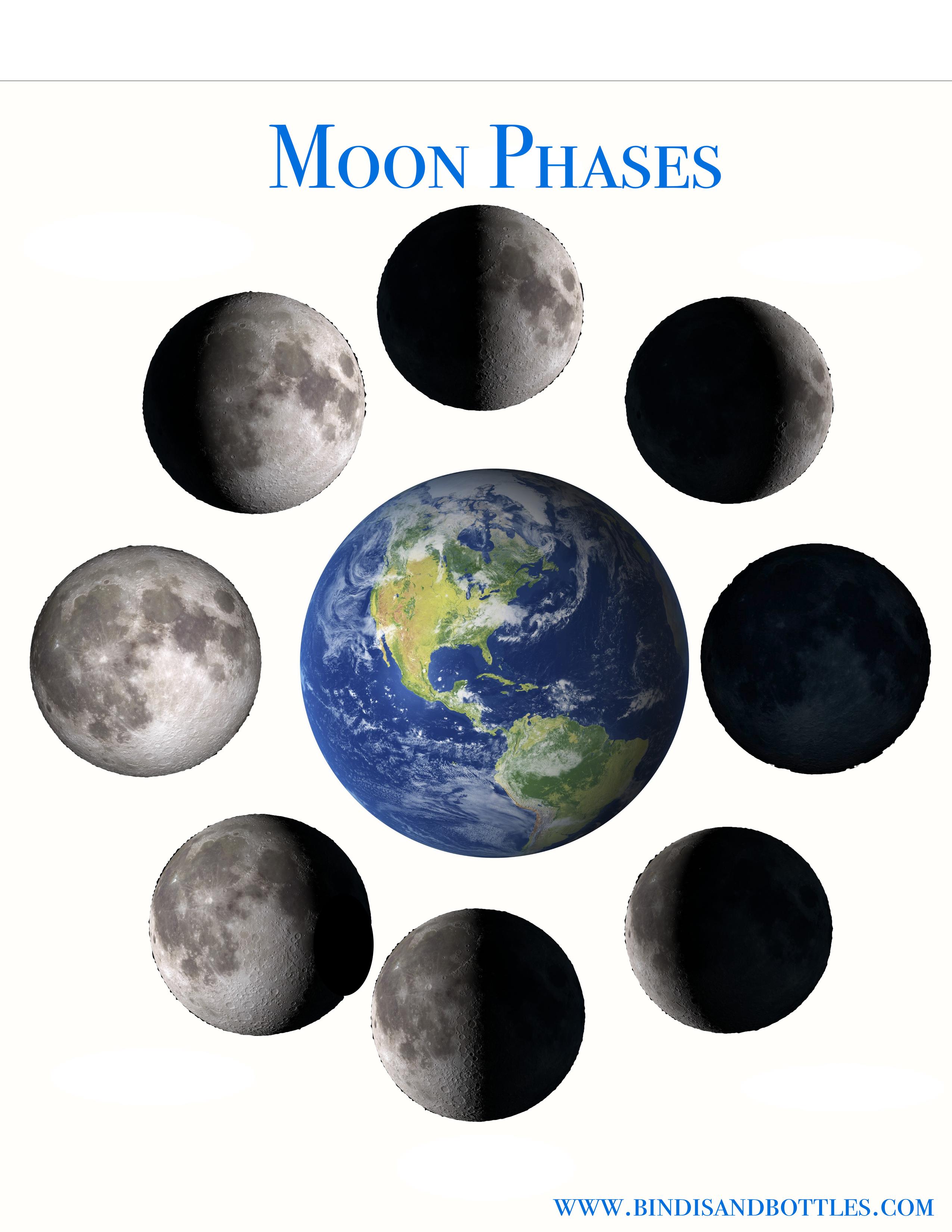 Moon Phases Printable Sheet