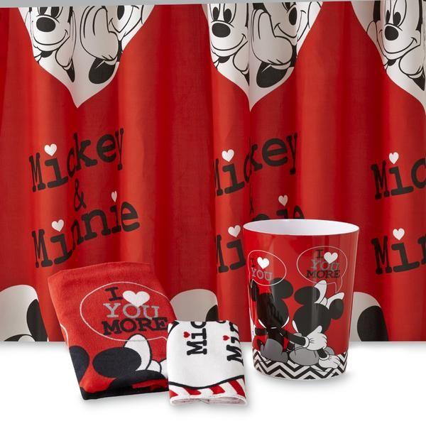 Mickey Mouse Bathroom Decor Sets Ideas Pinterest - Mickey mouse bathroom accessories for small bathroom ideas