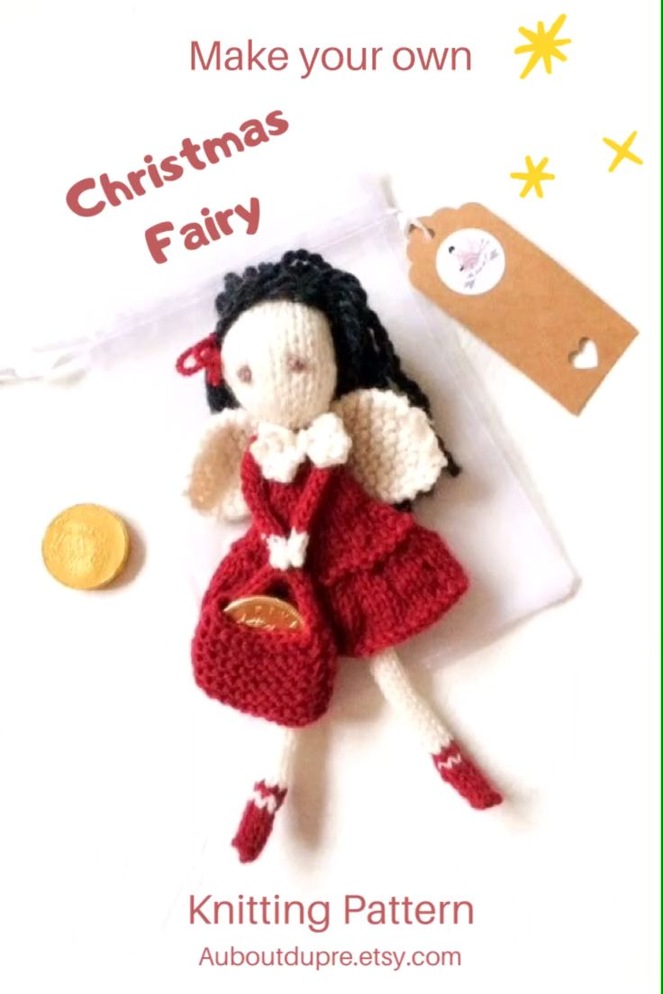 Make your own angel this Christmas with this lovely tutorial auboutdupre.etsy.com #etsy #ravelry #christmasangels #fairy #toothfairy #pdf #instantdownload #knitting #knittingpatterns #christmas #noel