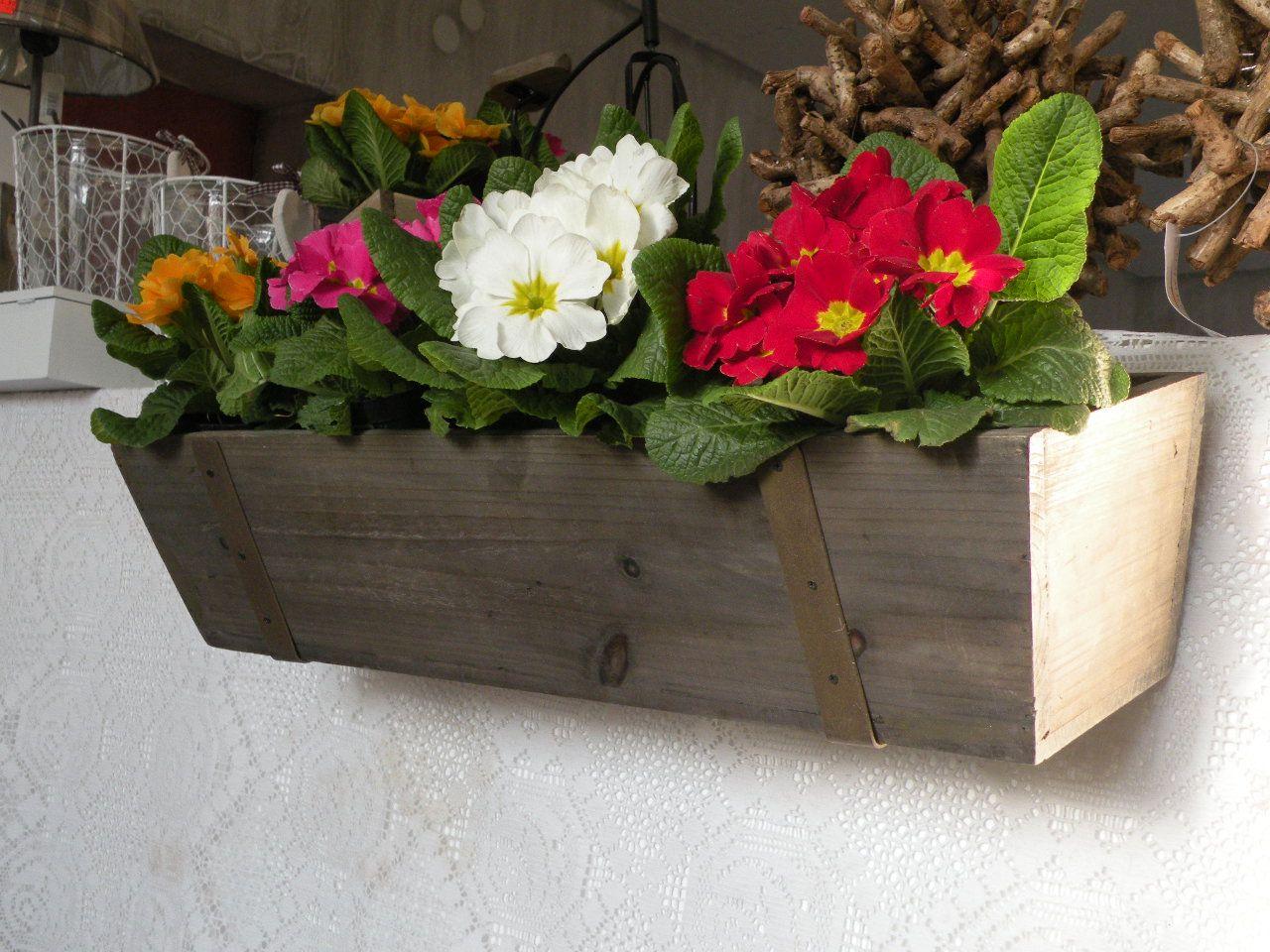 Skrzynka Balkonowa Drewniana Kwiaty Retro 3198842182 Planter Pots Planters Plants