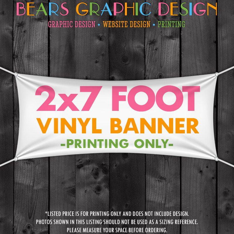 Printed Craft Show Banner 2 X 7 Vinyl Banner Vinyl Banner Printing Hanging Vinyl Banner Tent Banner Booth Banner Table Banner Vinyl Banners Vinyl Banner Printing Banner Printing