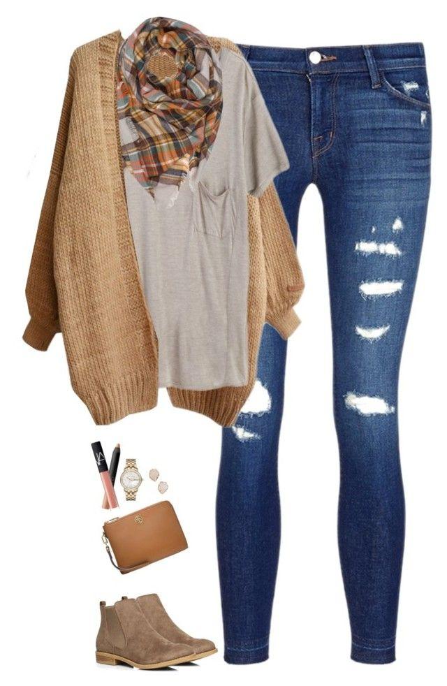 With amp; Plaid Scarf Pinterest Mode Tee Pocket Camel Cardigan 5fEIqEw