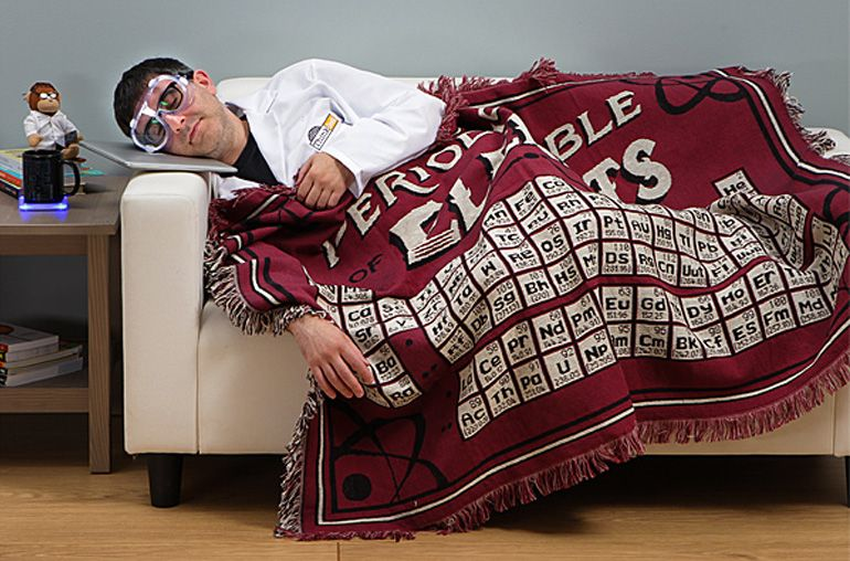 Periodic Table Of Elements Blanket Unique Gift Idea For A Science