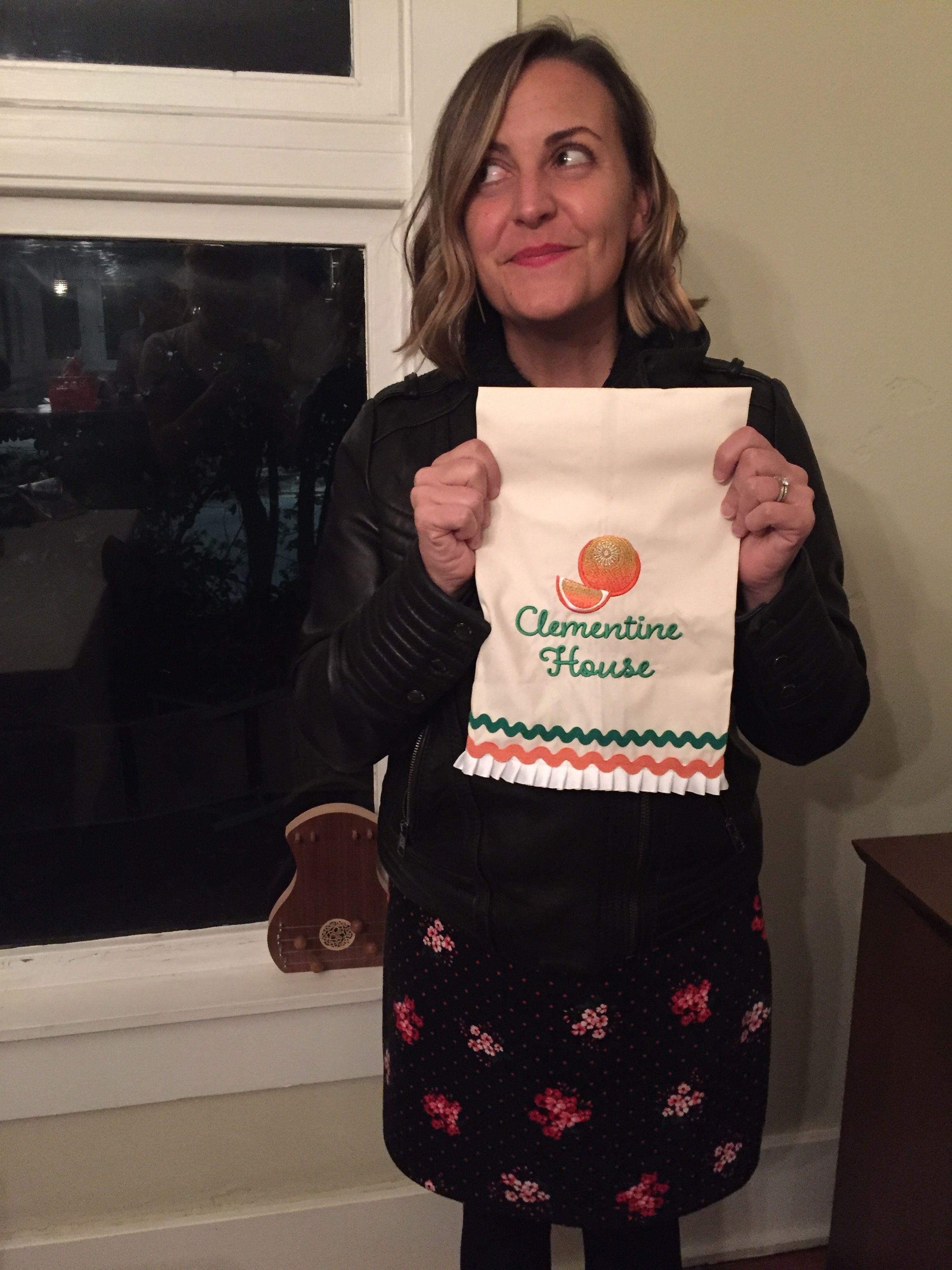 Clementine house tea towel reusable tote bags fashion