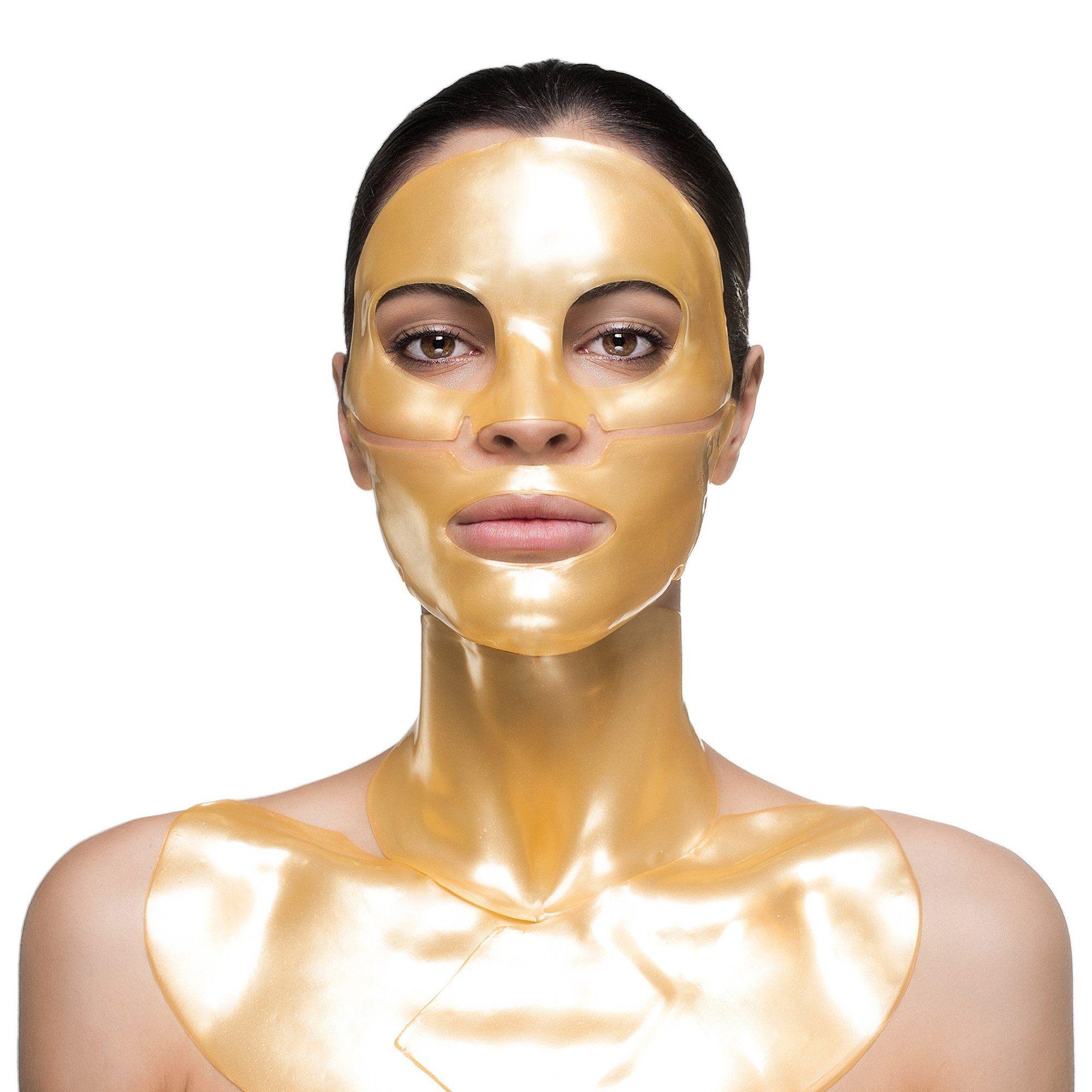 Gold Collagen Face Mask Set Knesko Skin In 2021 Collagen Mask Collagen Lip Mask Lip Mask