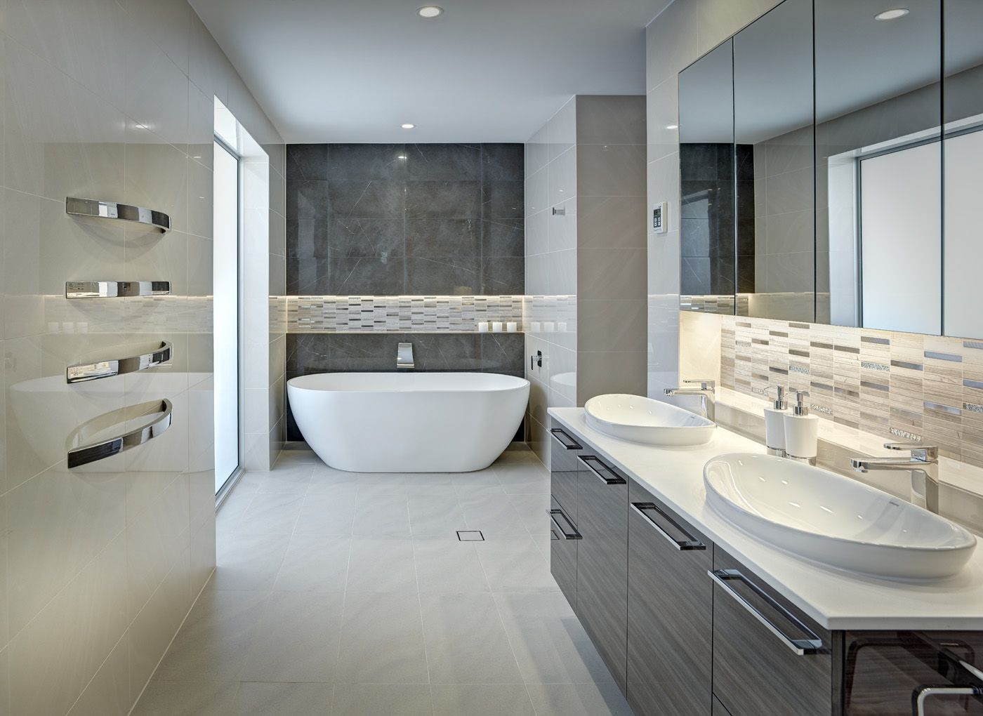 Photo Image Caesarstone Calacatta Nuvo looks great in bathrooms too Caesarstone Colors Calacatta Nuvo Pinterest Calacatta Kitchen layout design and Kitchen
