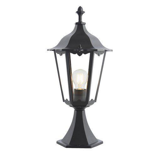 Sol 72 Outdoor Sienna 1 Light Pedestal Light Bollard Lighting Glass Glass Panels