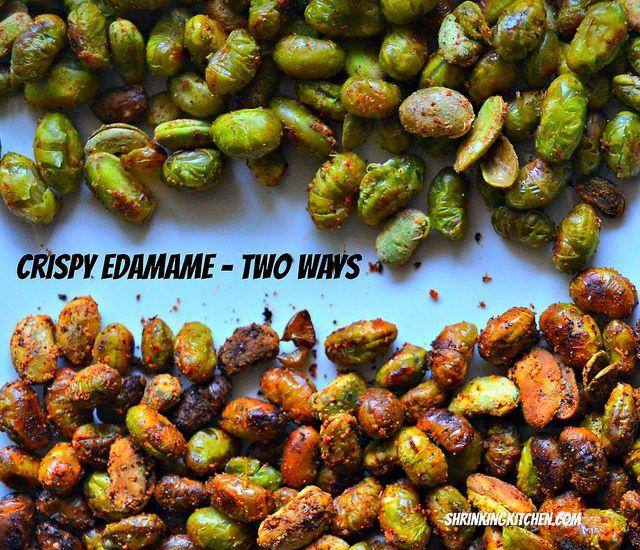 crispy edamame - two ways #healthy #recipes