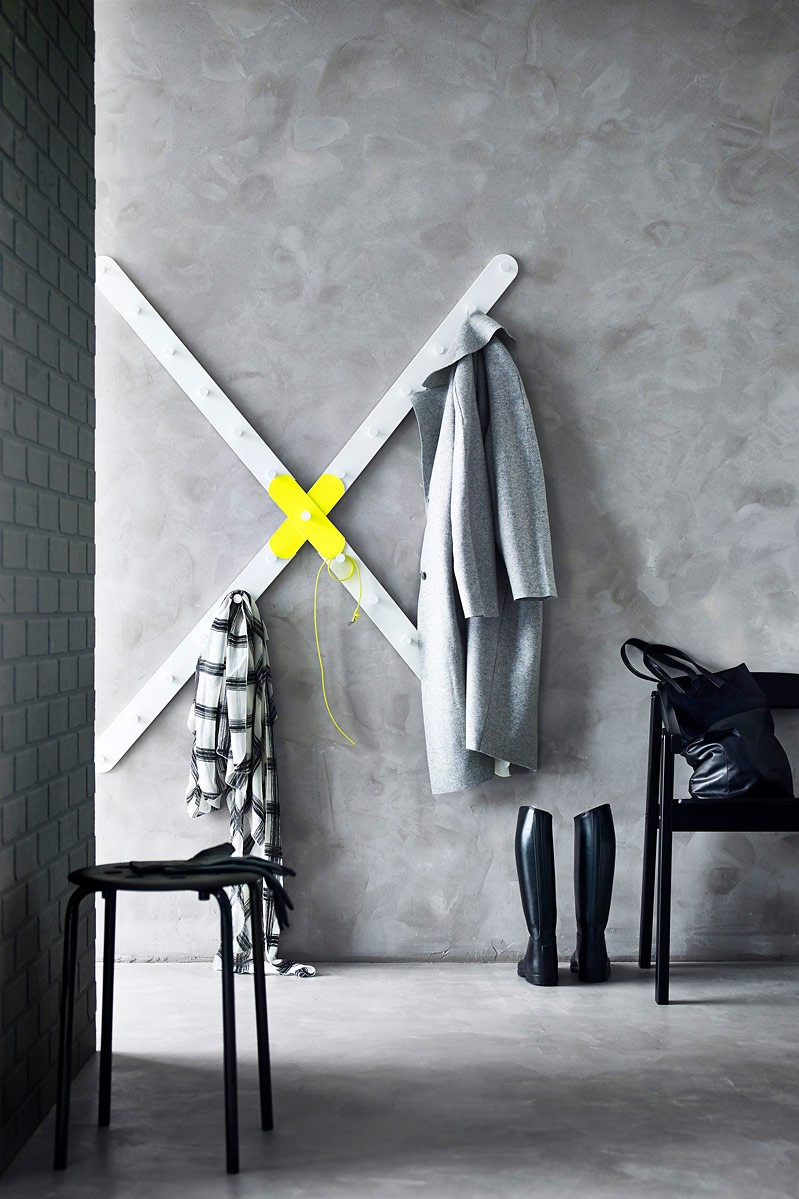 Ideale Kombi Neongelbe Akzente Und Beton Optik Bild 8 Ikea Design Garderobe Design Und Neongelb