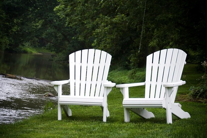 Superbe White Adirondack Chairs