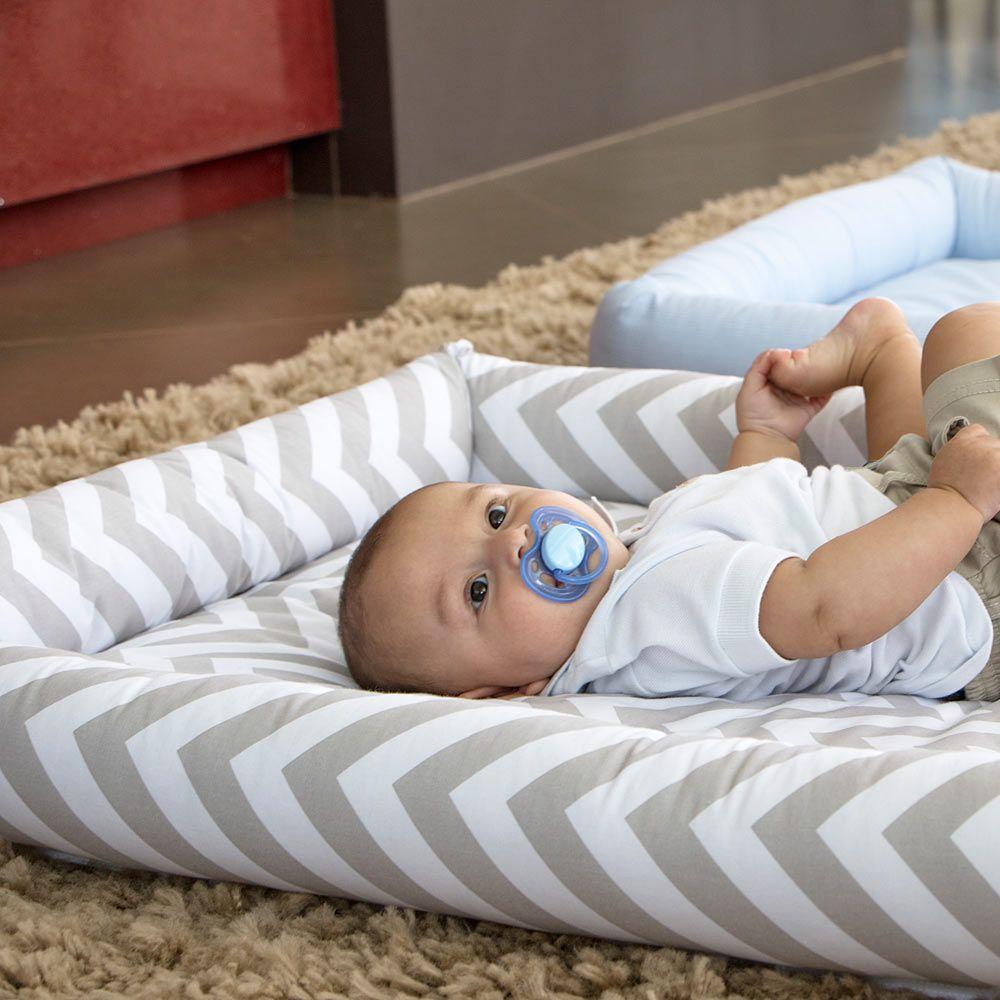 c0cba5b03edf8 Colchonete para Bebê Chevron Cinza Biramar Baby - Baby Enxoval - BabyEnxoval