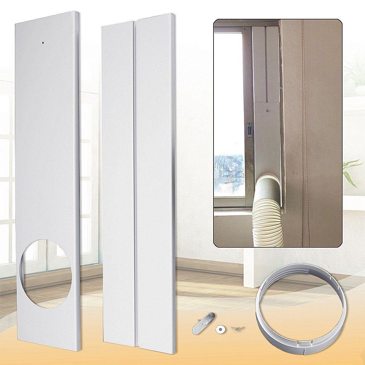 120cm Adjustable Air Conditioner Window Kit Plate For Exhaust Hose Tube Connector Acondicionado Aire Acondicionado Colores Blancos