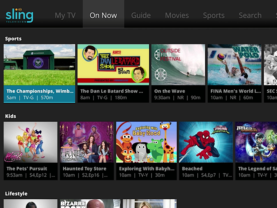 Sling TV's basic package costs just 30 a month and gives