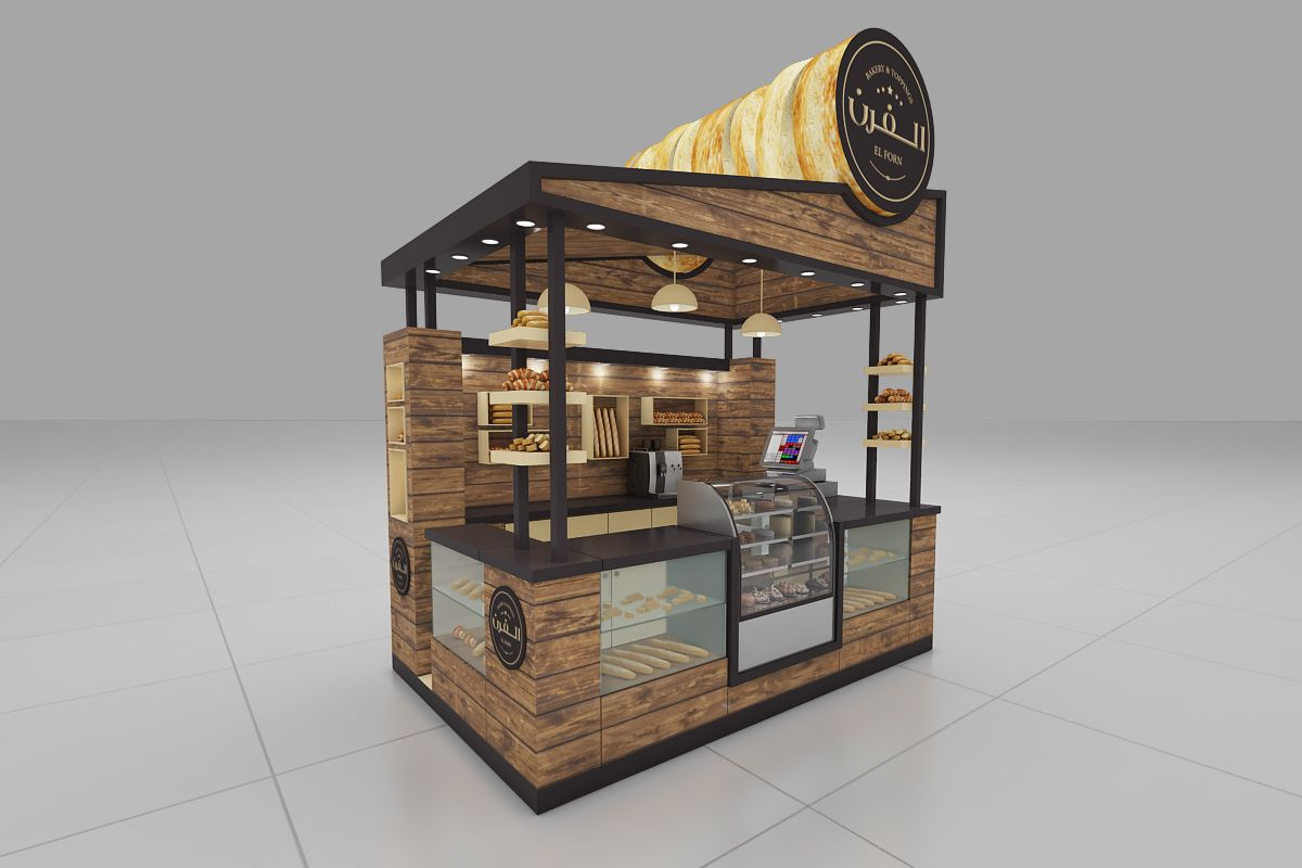 Stand design for a bakery brand | Arquitetura portátil in