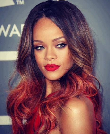 Want this ombre look! Maquillage rihanna, Maquillage