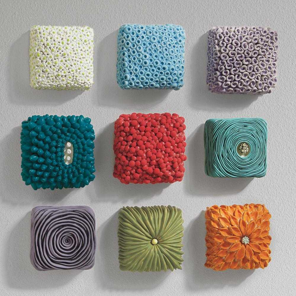 Textured Wall Boxes by Rachelle Miller - Orange Da
