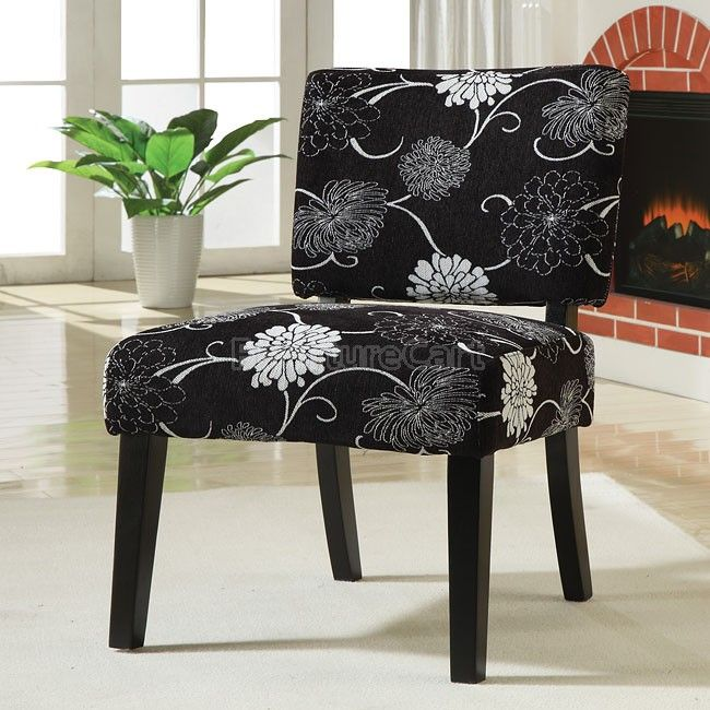 Accent Chair Black White Floral Upholstery Accent Chair White Accent Chair Upholstered Accent Chairs