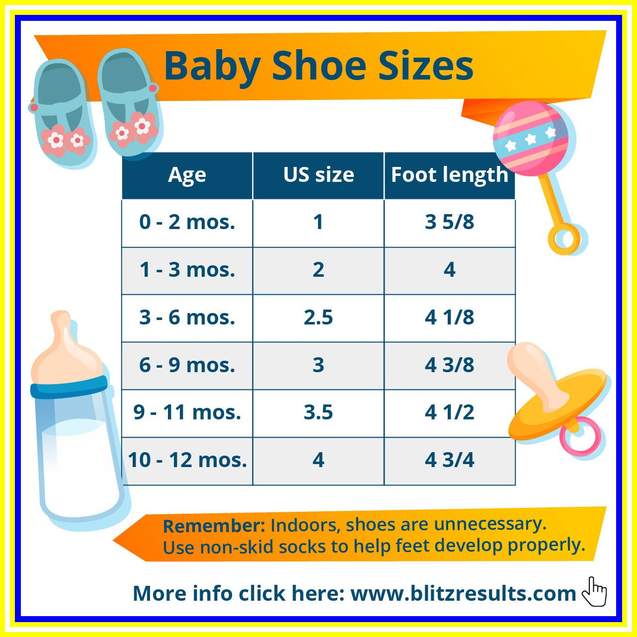 121 reference of baby shoe size chart