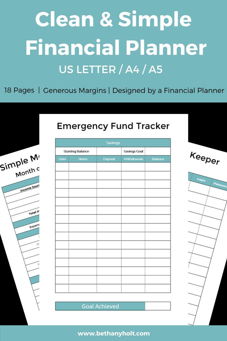 Budget Planner Finance Printable Budget Planner Simple Budget Planner Printable Budget Binder Financial Planner Budgeting Personal Budget Planner Personal Budget Budget Planner