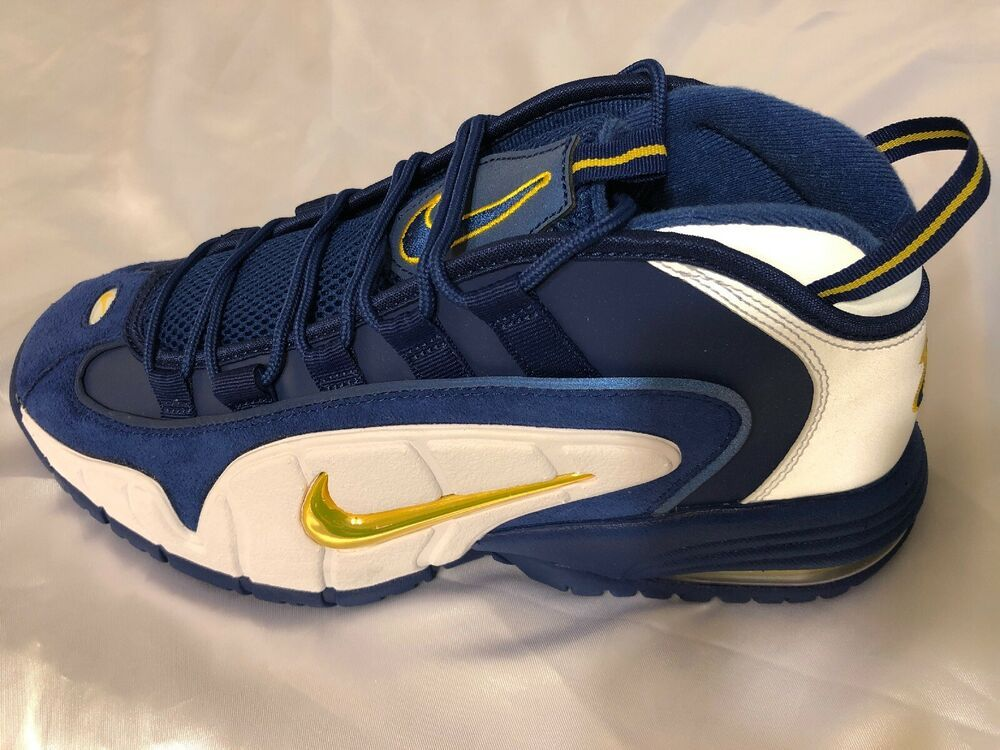 big sale 7248f a6cec (eBay Sponsored) Men s Nike Air Max Penny Shoes Deep Royal Amarillo White ( 685153-401, Size 10