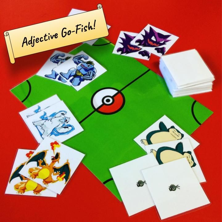 Adjective gofish pokemon version with images going