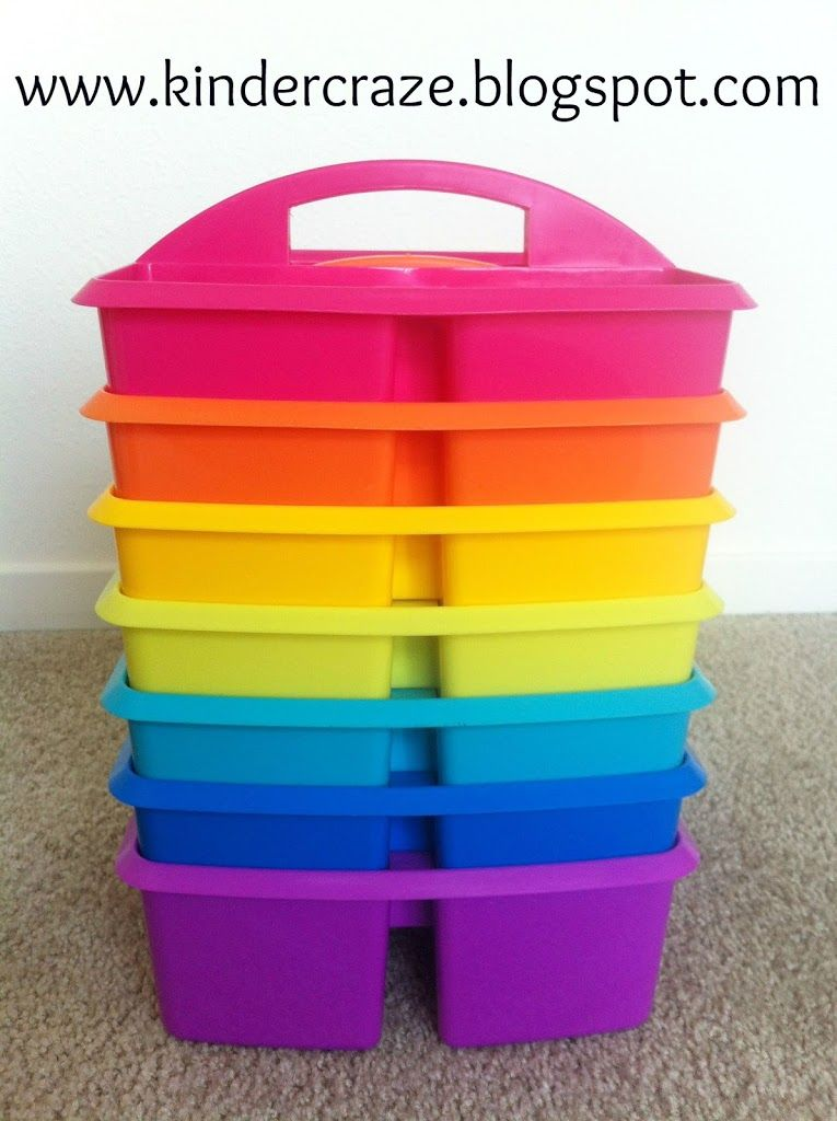 Pretty table bins for back to school!