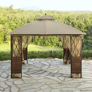 Ridgeway 10 X 10 Wicker Gazebo Kmart Gazebo Canopy Outdoor Hot Tub Gazebo