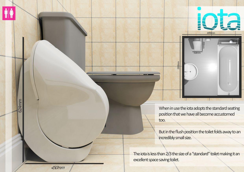 gareth humphreys elliott whiteley 39 s iota folding toilet reduces its size and water. Black Bedroom Furniture Sets. Home Design Ideas