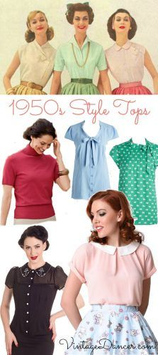 1950s Rockabilly Pin Up Tops Blouses Shirts 1950s Style