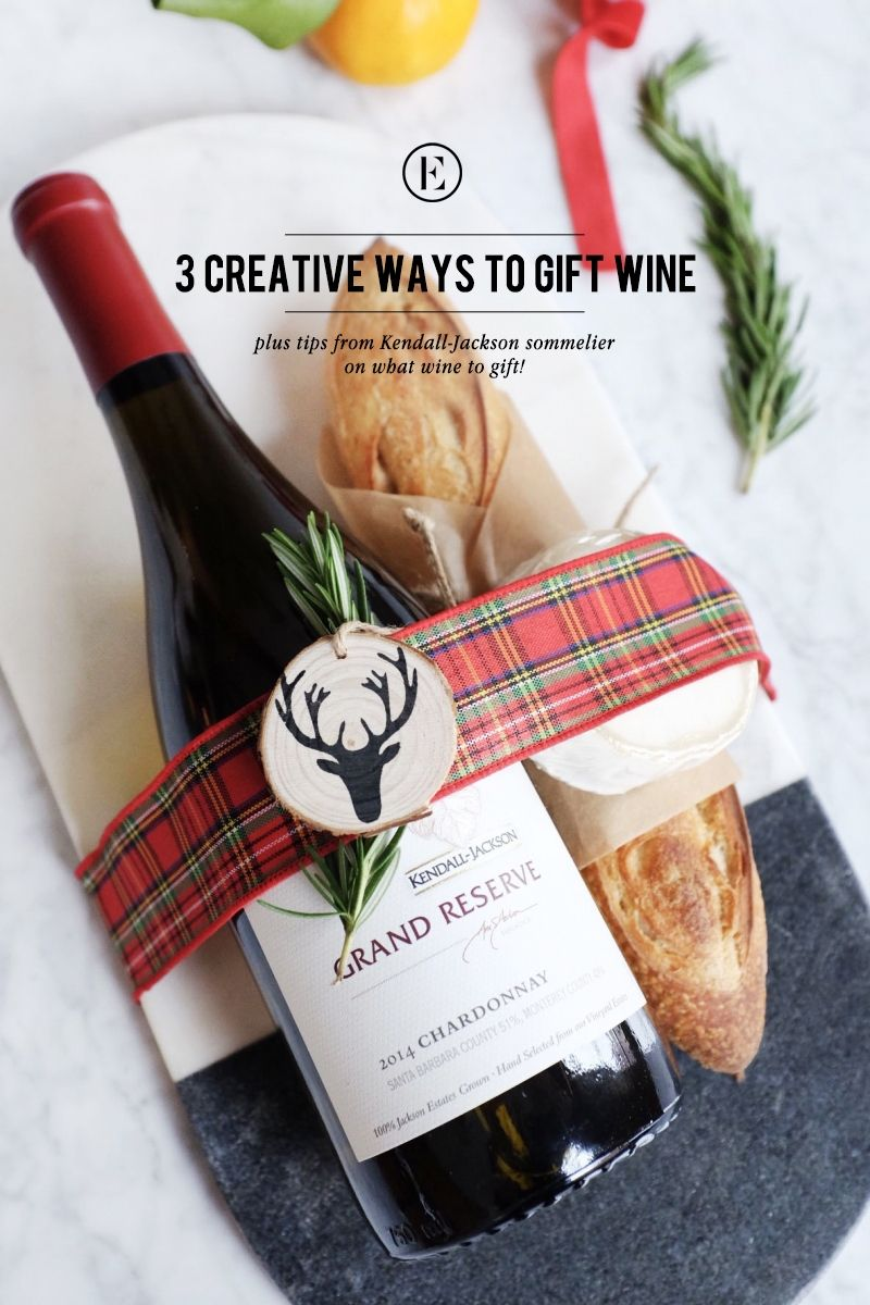 ditch the wine bag 3 ways to spruce up your wine gift theeverygirl christmas - Wine Christmas Gifts