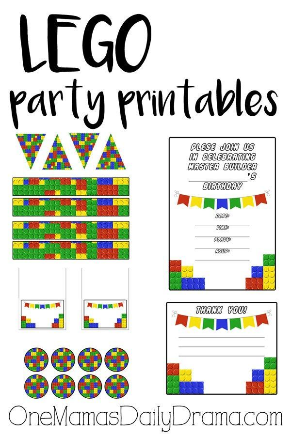 25 awesome LEGO party ideas | Card party, Party printables and Legos